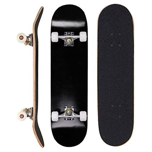 Sumeber Skateboard für Anfänger, Geburtstagsgeschenk für Teenager und Erwachsene, Schwarz