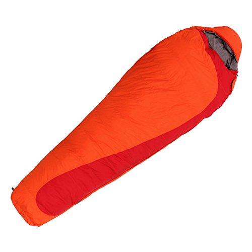 Sac De Couchage En Duvet Adulte Extérieur Ultralight Couleur Correspondant Camping D'intérieur Chaleur Environnement Santé Peau Saine Momies,Orange