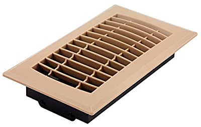 Accord APFRTPL48 Plastic Floor Register with Louvered Design, 4-Inch x 8-Inch, Taupe Finish