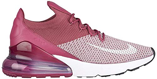 Nike Men's Air Max 270 Flyknit Fashion Sneakers (10, Plum Fog/White/Vintage Wine/Total Crimson)
