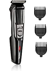 Nova NHT 1076 Cordless: 30 Minutes Runtime Trimmer for Men (Black)