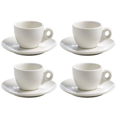 Maxwell & Williams 4er Set Espressotassen White Basics Round H. 5,5cm weiß