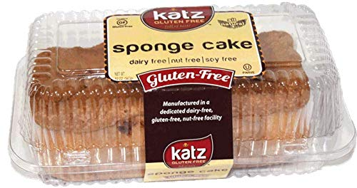 Katz Gluten Free Sponge Cake | Dairy, Nut, Soy and Gluten Free | Kosher (1 Pack of 1 Loaf, 12 Ounce)