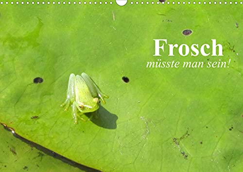 Frosch müsste man sein! (Wandkalender 2022 DIN A3 quer)