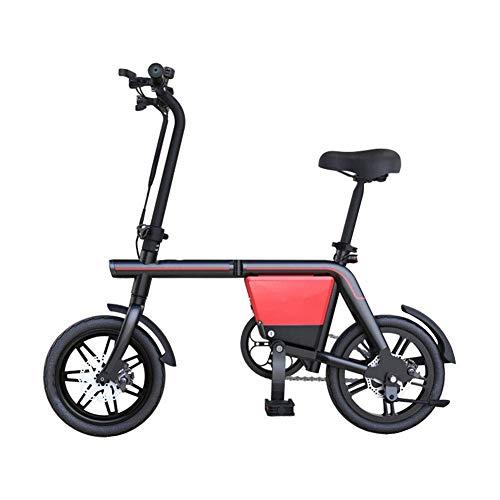 DONG Folding Elektro-Bike für Erwachsene Fahrrad-Körper 3 Modi, Aluminiumrahmen und Scheibenbremsen Höchstgeschwindigkeit 20 km/h Unisex Batterie-Auto Abnehmbare Lithium-Batterie, 85