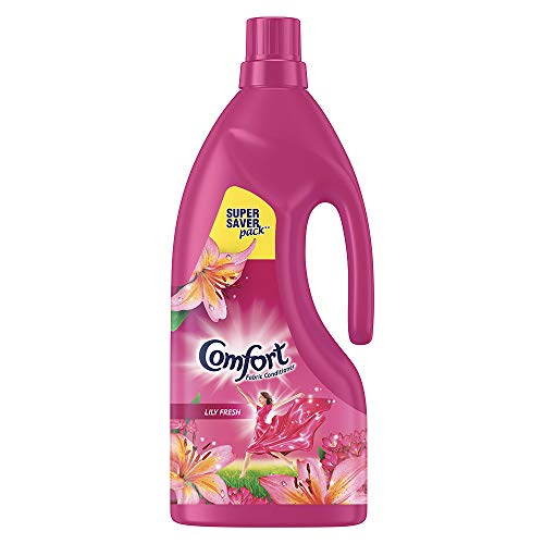 Comfort After Wash Lily Fresh Fabric Conditioner (Fabric Softener) - For Softness, Shine And Long Lasting Freshness, 1.6 L