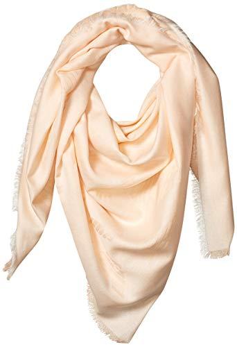 Emporio Armani Damen Cotton-Blend Square Scarf with Logo Detail Modischer Schal, Nude, Einheitsgröße