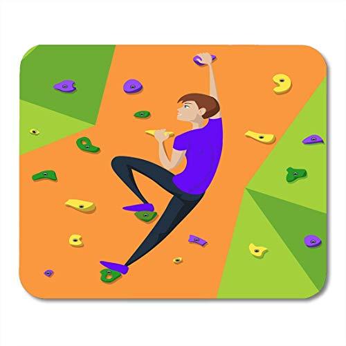 Mauspads Aktives Klettern Rock Climber Girl Klettert An Die Wand Action Adrenalin Mauspad Für Notebooks, Desktop-Computer Mausmatten, Büromaterial