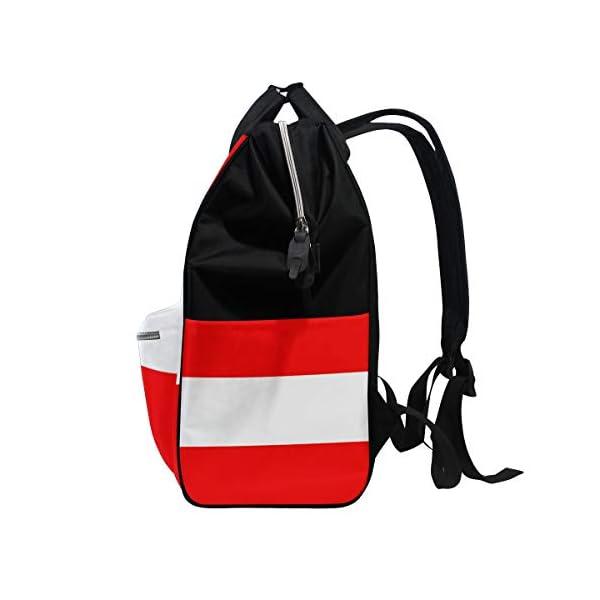 Bardic – Bolso cambiador impermeable con diseño de bandera austriaca para bebé