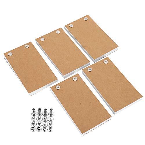 5 Pack Blanco Flipbooks Blanco Flipboekpapier met Gaten Flipbooks kit Flipbook Animatiepapier voor Tekenen Schetsen en…