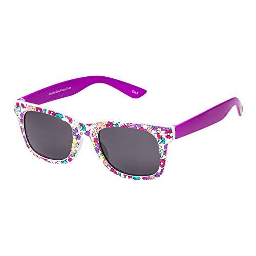 Ultra Lilane Blumen Klassische Sonnenbrille für Kinder UV400 Schutz UVA UVB Unisex Mädchen Jungen Retro Vintage Brille