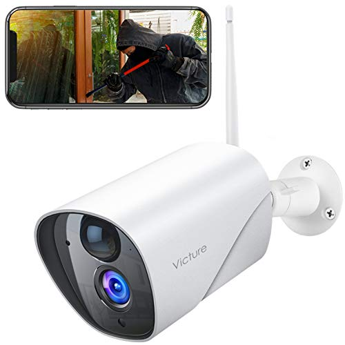 Outdoor Security Camera, Victure 1080P Surveillance Camera with PIR Passive Infrared Sensor, 2.4G WiFi Outdoor Camera, Motion Detection / Night Vision / Two Way Audio, Compatible with iOS & Android