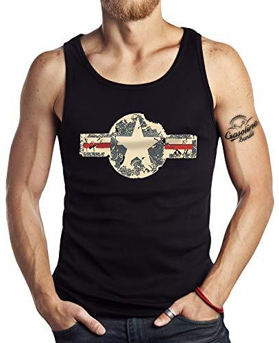 Tank Top Muskel-Shirt für Military US Army Fans: USAF Vintage M