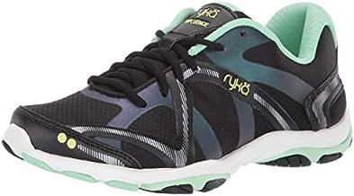 Ryka womens Influence Training Shoe Cross Trainer, Black/Green, 8.5 US