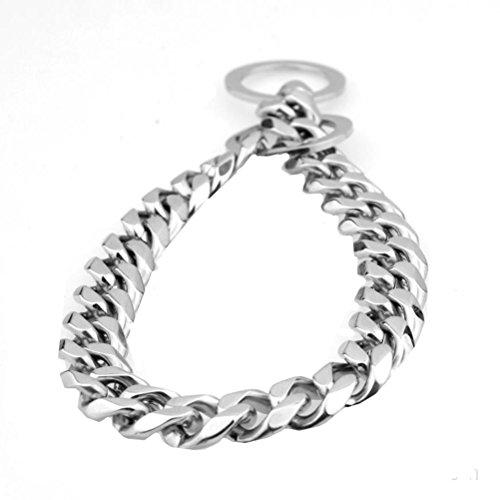 Ubeauty1999 - Collar de cadena para perro de acero inoxidable 316L con cadena de 19 mm para entrenamiento de perro de 12 a 34 pulgadas Acero inoxidable