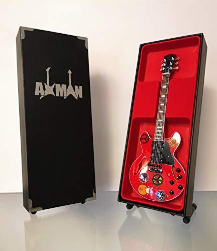 Alvin Lee Miniatur-Gitarre (zehn Jahre Nachfolge), Nachbildung mit Display-Box und Ständer