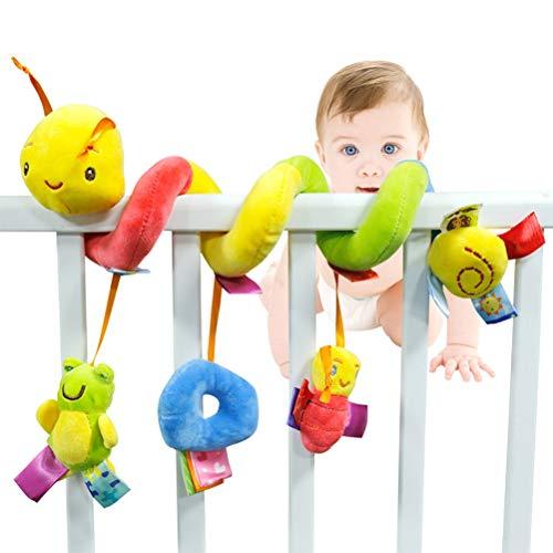 BSTiltion Baby Activity-Spirale, Babyschale Spielzeug Kinderwagen Spielzeug Mädchen Spirale Kinderwagenkette mit Klingelglocke zum Aufhängen an Kinderwagen, Babyschale, Kinderbett oder Bett