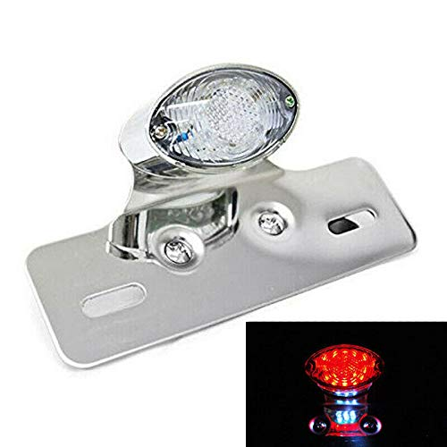 Triclicks 14 LED Motorcycle Tail Light Turn Signal Brake License Plate for Bike