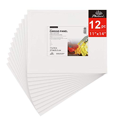 "11X14"" Stretched WHITE Blank Canvas Bulk Pack Of 8 Primed 100/% Cotton Fo 11 X 14"