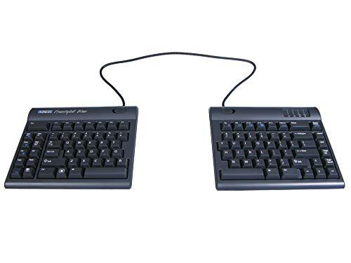 KINESIS Freestyle2 Teclado ergonómico inalámbrico Azul para PC (separación extendida de 20 Pulgadas)