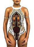Costumi da Bagno Donna Intero Particolare Stampa Africana Bikini Etnico Boho Hippie Chic Costume da Mare Nuoto Surf Spa Trikini Push Up Tankini Sexy Swimwear Coordinato Spiaggia Beachwear Swimsuit