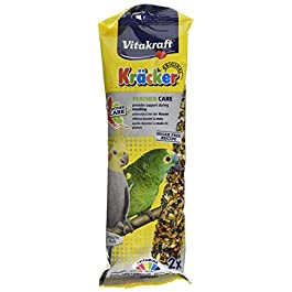 Vitakraft Kracker Cockatiel/Parrot Bird Food Feathercare, Pack of 5
