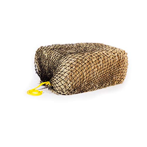 "Texas Haynet - Square Net Hay Holder for Horses - Durable Nylon Square Bale Hay Net Slow Feed - American Made Hay Rope Net - Easily Fits Bales 36x18x18"" with 1.5"" Holes"