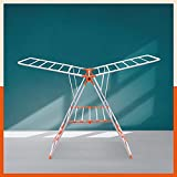 Bathla Mobidry Neo - Foldable Clothes Drying Stand with Weather Resistant Frame (Orange)