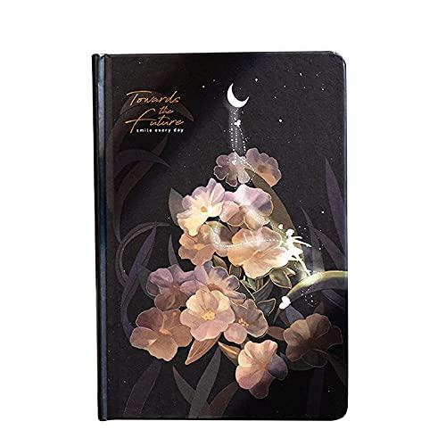 JJyy Diario luminoso de diario bonito colorido para mujeres y niñas, diario personal con 224 páginas de papel grueso