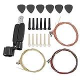 Kit de Cambio de Cuerdas de Guitarra que Incluye Pick Bridge Pin Guitar 3 en 1 Herramienta Juego de Cuerdas de Guitarra para Violín(M02283)