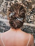 Handcess Bride - Pasador de pelo para novia y damas de honor (2 unidades), color dorado