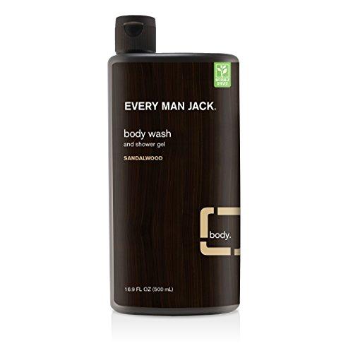 Everyman Every Man Jack Body Wash Shower Gel, Sandalwood, 16.9 Fl Oz (91297)