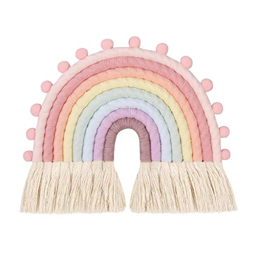 Hergon - Tapiz arcoíris para colgar en la pared, 8 líneas, decoración de habitación infantil en la casa