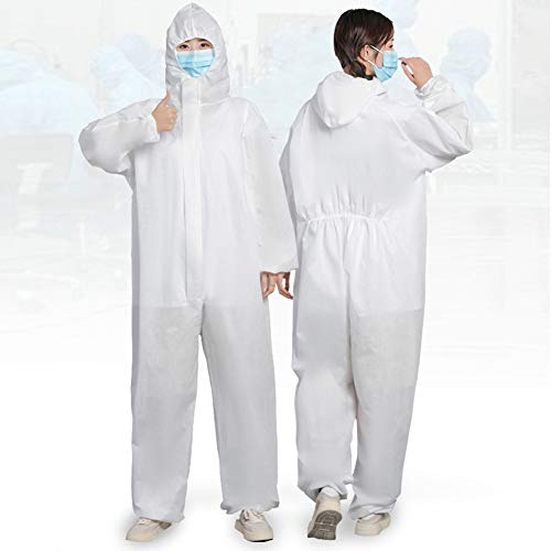 PREMOD Schutzkleidung - Isolationskleider. Einwegkleider Für Erwachsene. Schutzkleider Mit Langen Ärmeln, Hals- Und Taillenbändern,XL