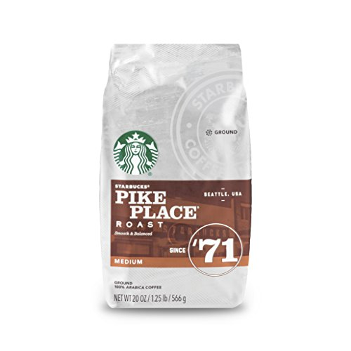 Starbucks Pike Place Roast Medium Roast Ground Coffee, 20 Oz. Bag | Great Holiday Gift for Coffee Lovers