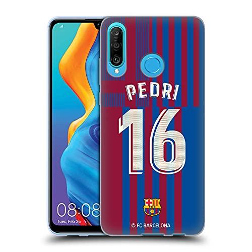 Head Case Designs Licenciado Oficialmente FC Barcelona Pedri 2021/22 Jugadores Inicio Kit Grupo 1 Carcasa de Gel de Silicona Compatible con Huawei P30 Lite/Nova 4e