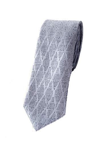Emporio Armani Herren Krawatte 100% Seide (Light Blue)