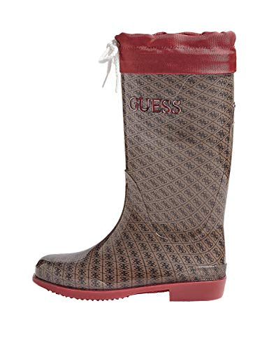 Guess Girls Paola All-Over Logo Wellington Boots Kids Red in Size 28