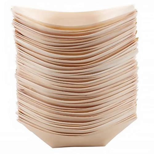 Luxshiny 50pcs Tazón de madera Bol de merienda de madera Tazón de merienda Tazón de madera Contenedor de alimentos