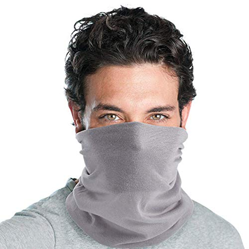 Tomrickcare Cool Face Masks for Men,Breathable and Comfortable Bandana,100% Polyester Microfibre Gray