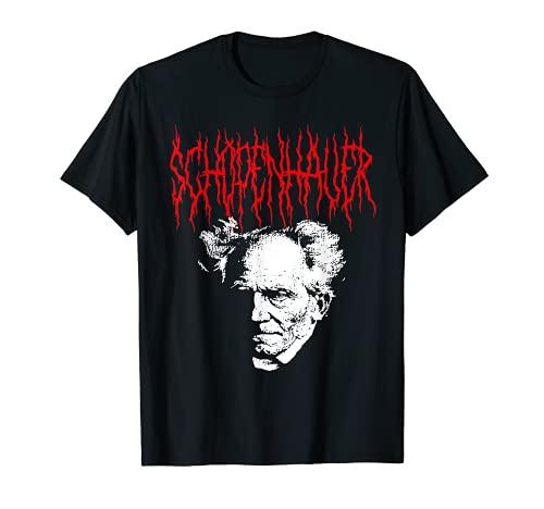 Arthur Schopenhauer Diseño de la filosofía Death-Metal Camiseta