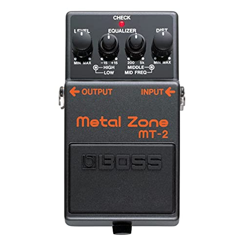 BOSS MT-2 –Metal Zone Effects Pedal for Guitar and Bass. Legendary...