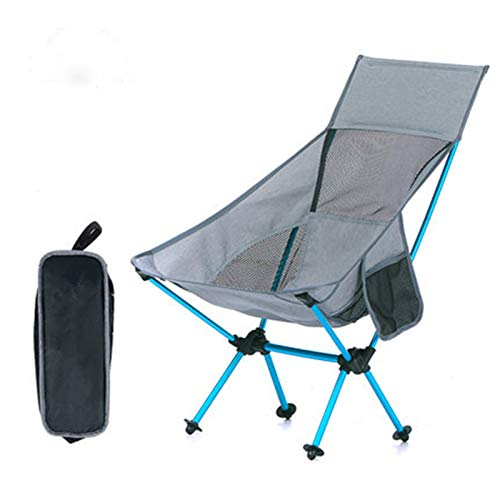 KJGHJ Folding Seat Rest Outdoor Camping Fishing Swimming Rest Portable Folding Garden Beach Lounge Chair Folding Small Bench (Color : Gray)