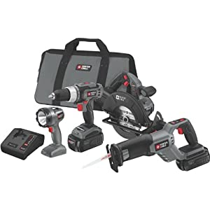 Porter-Cable PC418C-2 18-Volt NiCd Cordless 4-Piece Combo Kit from Porter-Cable