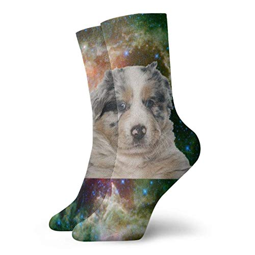 LaoJiNan-shop Hund Australian Shepherd Galaxy Adult Kurze Socken Cotton Classic Socken für Herren Damen Yoga Wandern Radfahren Runni