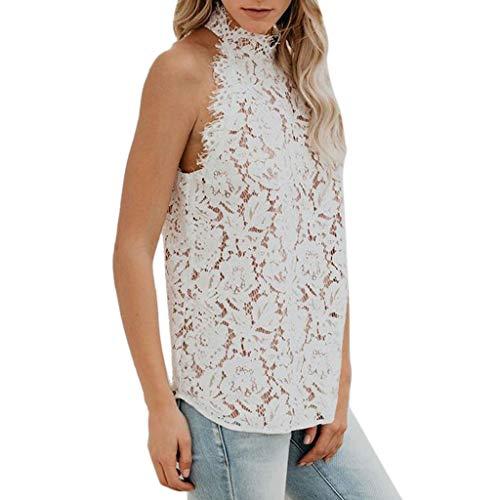 Damenoberteile Spitze Top Kleine Schlinge Weste Volltonfarbe Damenbekleidung Frau Sommer Sexy Weste Ärmellos Sommer Freizeit Weste T-Shirt