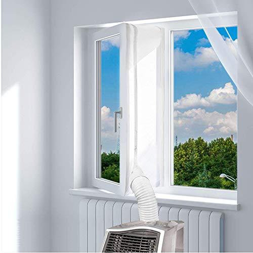 ANK-SNL Fensterabdichtung für mobile Klimageräte Klimaanlagen Hot Air Stop zum Anbringen an Universal Fenster (Fenster 300 cm)
