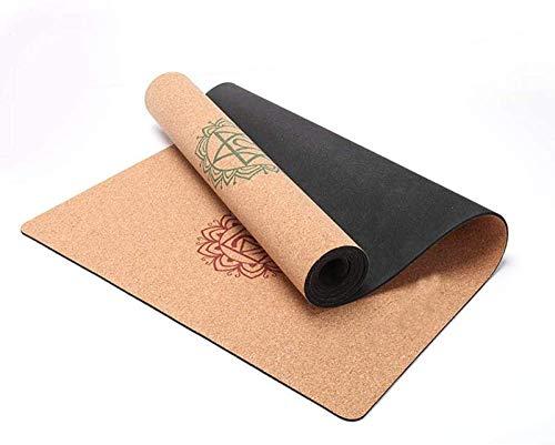 RVTYR Gomma Naturale Sughero stuoia di Yoga allargato Antiscivolo Tappetino Fitness for i Principianti tutela Ambientale insapore Antiscivolo antisudore superficie-100% riciclabile
