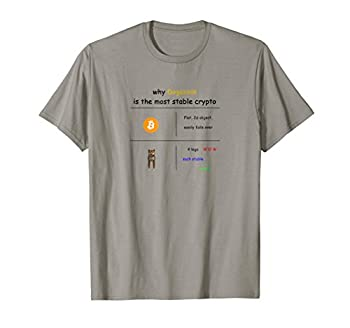 Why Dogecoin DOGE Most Stable Crypto Currency BTC Shirt