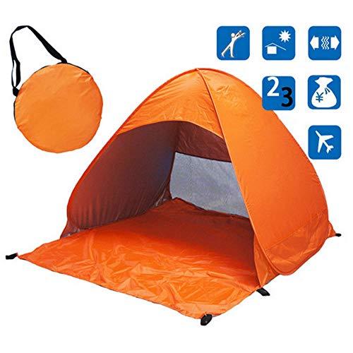 WBHMVMZ Beach Tent Lightweight Folding Pop Up Tent 2 Persons Anti-UV Waterproof Automatic Open Tent Sun Shelter for Garden Family Outdoor Camping Fishing Picnic-D